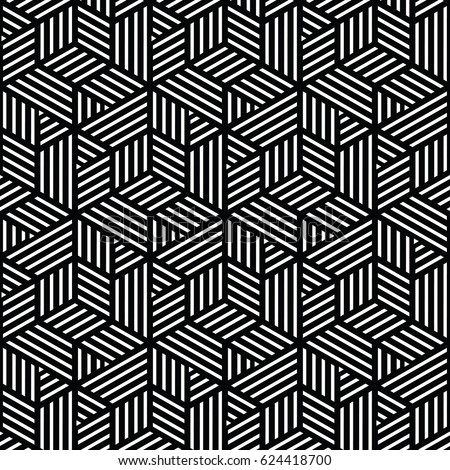 Black White Geometric Pattern Abstract Vector Stock Vector Royalty