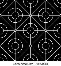 Black and white geometric print. Seamless pattern for web, textile and wallpapers