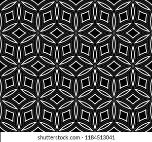 Black and white geometric seamless pattern. Simple regular background.Vector monochrome seamless pattern. Abstract repeat backdrop. Design for decor, prints, textile, furniture, cloth, digital