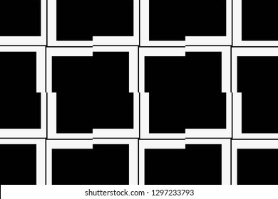 Black and white geometric seamless pattern in modern stylish. Vector luxury abstract background. Vector illustration