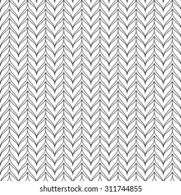 Black and white geometric seamless pattern, abstract background, vector