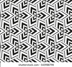 Black and white geometric seamless pattern. Simple regular background.