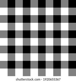 Black and white gingham. Seamless vector plaid pattern suitable for fashion or interiors.