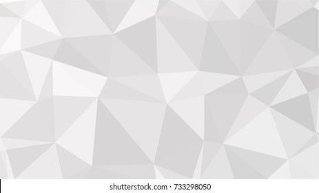 Black and White Grey Polygonal Mosaic Background, Low Poly Style, Vector illustration, Business Design Templates