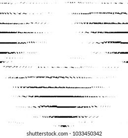 Black and white grunge stripe line vector background. Abstract halftone illustration background. Grunge grid background pattern