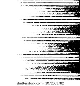 Black and white grunge stripe line vector background. Abstract halftone illustration background. Grunge grid background pattern