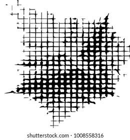 Black and white grunge vector line background. Abstract illustration background. Grunge grid background pattern