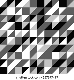 A Black and White Half Square Triangle Seamless background