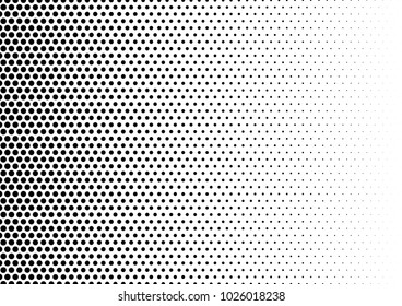 Black and White Halftone Background. Grunge Pop-art Texture. Modern Dotted Overlay. Distressed Pattern. Vector illustration