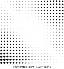Black and white halftone background with stars