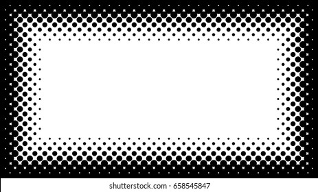 Black White Halftone Frame Copyspace Presentation Stock Vector ...