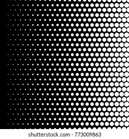 black and white halftone gradients, vector background
