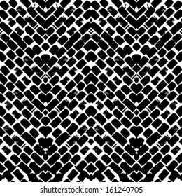 Black and white hand painted vector seamless pattern with zigzag lines. Texture for web, print, home decor, textile, wrapping paper, wallpaper, invitation card background, summer fall fashion fabric