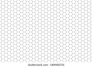 Black and white hexagon honeycomb seamless pattern