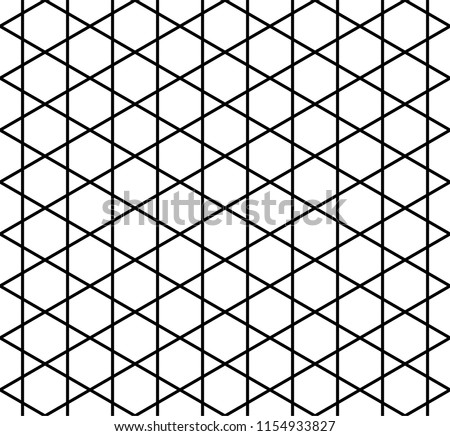Black White Hexagonal Grid Pattern Stock Vector Royalty Free