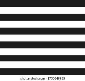 Black and white horizontal striped background. Vector illustration