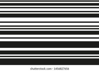 Black and white horizontal stripes. Geometric pattern. Seamless vector background