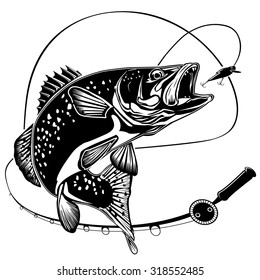 Fishing Rod Clipart Images Stock Photos Vectors Shutterstock