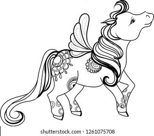 9293937dfa83f Imágenes, fotos de stock y vectores sobre Kids Unicorn Coloring Page ...