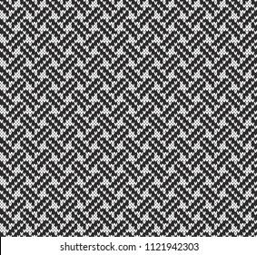 Black and white Jacquard Fairisle Seamless Knitting Pattern