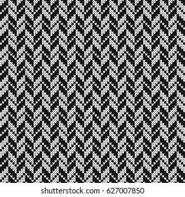 Black and white jacquard. Seamless Knitting Pattern Goose pads