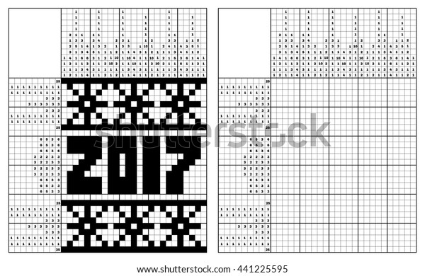 graphic regarding Nonograms Printable titled Black White Jap Crossword Alternative Monochrome Inventory