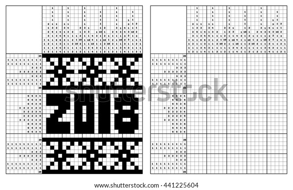 photo regarding New Year Crossword Puzzle Printable identify Black White Jap Crossword Option Monochrome Inventory