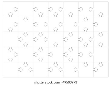 Black and white jigsaw or puzzle outline that you can overlay on to your own image or picture