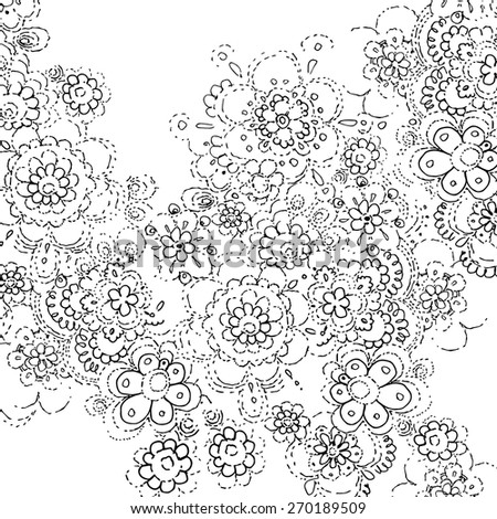 black white lace flowers leaves template stock vector royalty free