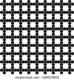 Black and white  lattice pattern