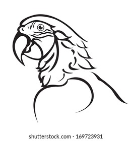 Parrot-black-white Images, Stock Photos & Vectors ...