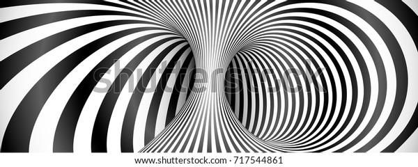 Black and white lines optical illusion horizontal background Custom Wallpaper