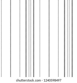 Black and white lines texture seamless pattern. Vector illustration.