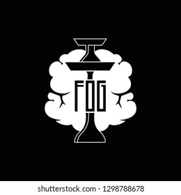 Black and white logo for a hookah lounge bar.