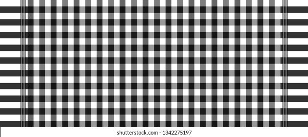 black and white loincloth vector and illustration.checkers table.Abstract background.
