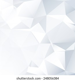 Black and White Lowpoly Vector Background | EPS10 Design