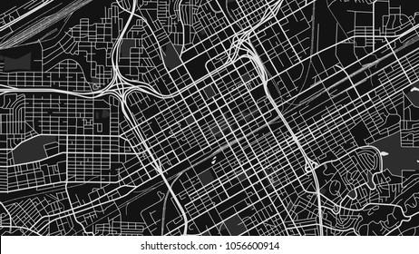black white map city birmingham