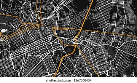 black white map city curtiba