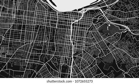 black white map city louisville