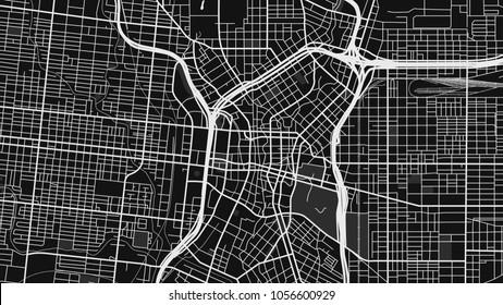 black white map city san antonio
