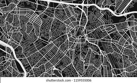 black white map city San Paulo