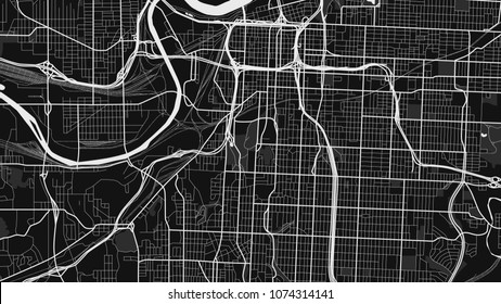 black white map kansas city