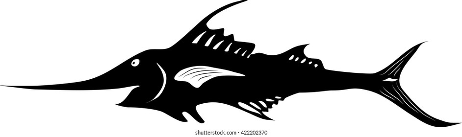 Black and white marlin