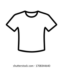 black and white, minimalist t-shirt icon vector.