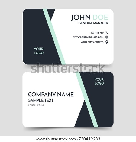 Black white modern business card template stock vector royalty free black and white modern business card template vector minimal corporate identity card design eps10 cheaphphosting Gallery