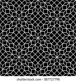 black and white mosaic seamless
