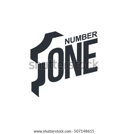 black white number one diagonal logo stock vector royalty free