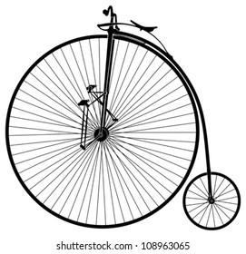 black and white old velocipede