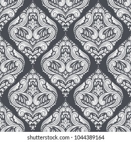 Black and white ornamental seamless pattern. Vintage, paisley elements. Ornament. Traditional, Ethnic, Turkish, Indian motifs. Great for fabric and textile, wallpaper, packaging or any desired idea.