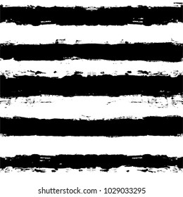 black and white paint lines Seamless pattern. vector striped graphic background. ink brush strokes. grunge stripes, trendy hipster paintbrush line. stripes backdrop
